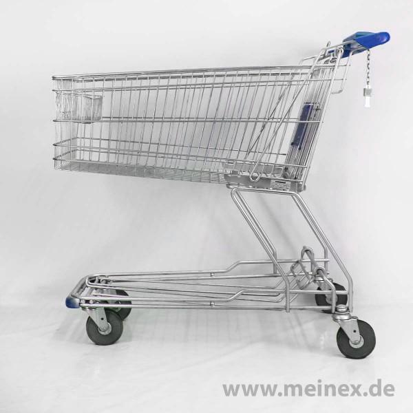 Einkaufswagen WANZL D155 RCF - blauer Werbegriff - gebraucht