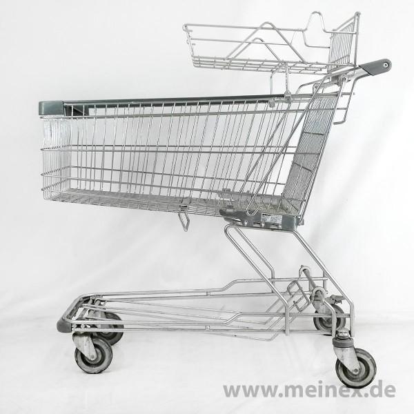 Einkaufswagen WANZL D155 RC - Babysafe - Griffenden grau - gebraucht