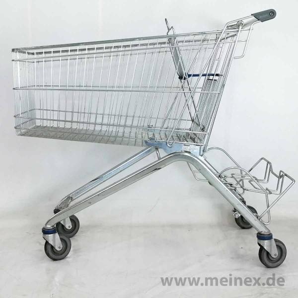 Einkaufswagen WANZL ELA 185 - blauer Kindersitz - gebraucht