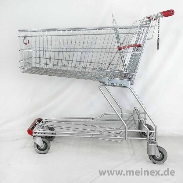 Einkaufswagen WANZL D155 RC - rote Griffenden - gebraucht