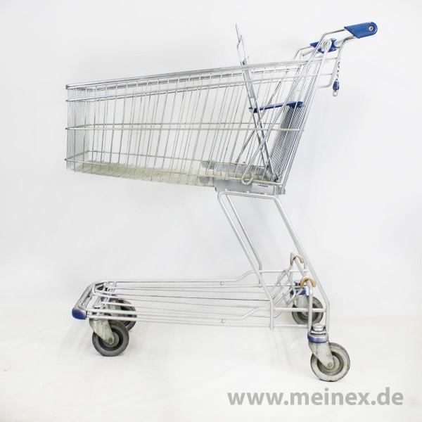 Einkaufswagen Wanzl D 101 RC - blaue Griffenden - gebraucht