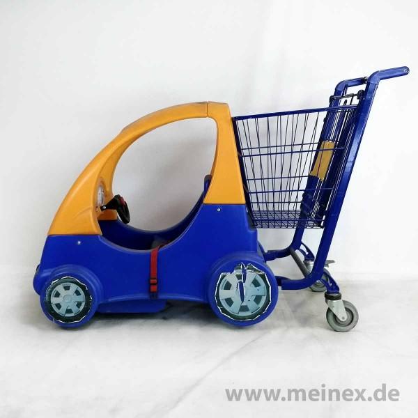 Kindereinkaufswagen Fun Mobil 80 - gelb / blau - gebraucht
