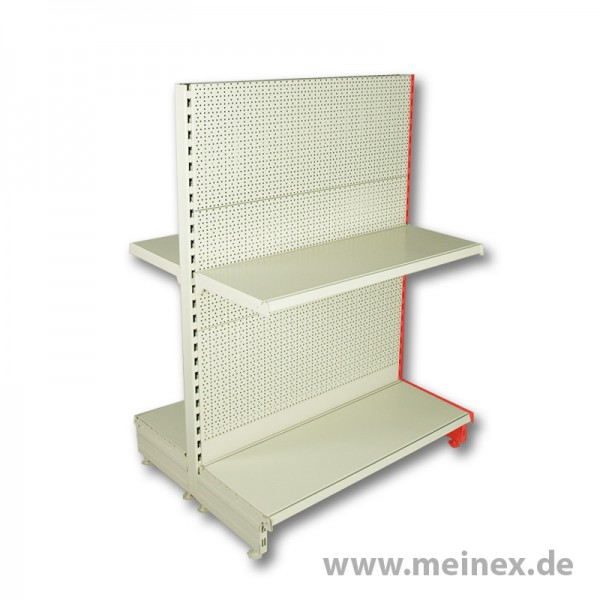 Gondola Shelf with Hole Back Panels Tegometall - 1 Shelf Board