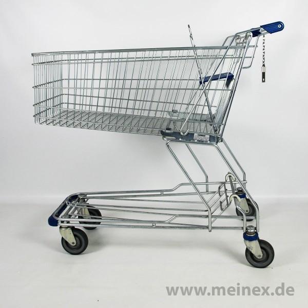 Einkaufswagen WANZL D155 RC - blaue Griffenden - gebraucht