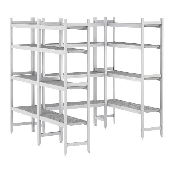 Regalset Aluminium (Eloxiert) - U-Form - Bautiefe: 360 mm