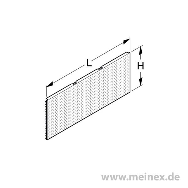 Lochrückwand Tegometall Rundloch 40cm