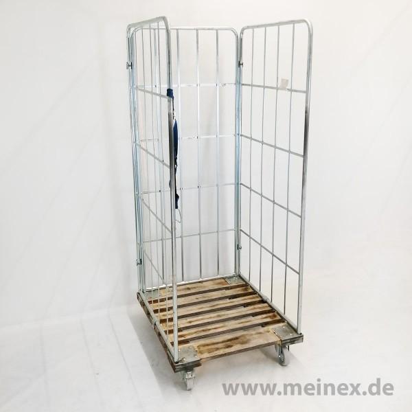 Gitterwagen / Rollwagen / Rollcontainer mit Holzboden - gebraucht