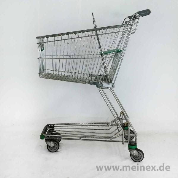 Einkaufswagen Wanzl D90RC - Grüner Kindersitz - gebraucht