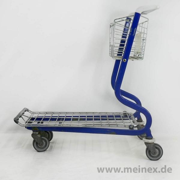 Plattformwagen / Transportwagen WANZL MUC 200 - mit Kindersitz - weiße Griffenden - gebraucht