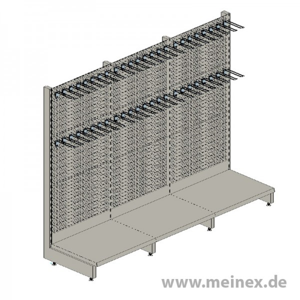 Shelf with Perforated Back Panels Tegometall - 3 Meter