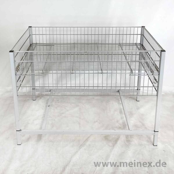Wühltisch / Aktionstisch Wanzl - grau lackiert - gebraucht