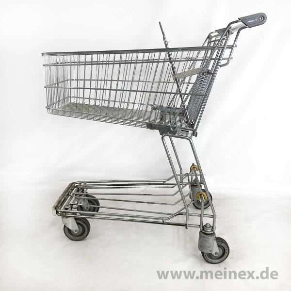 Einkaufswagen Wanzl D85 RC - grauer Kindersitz - gebraucht