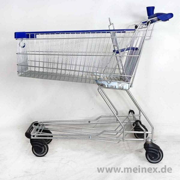 Einkaufswagen WANZL D155 RC - Kindersitz blau - gebraucht