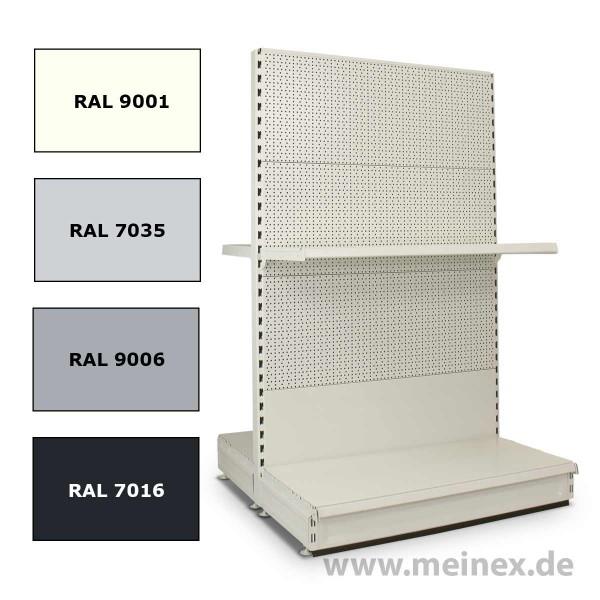 Gondelregal mit Lochrückwand - Konfigurator - Neuware