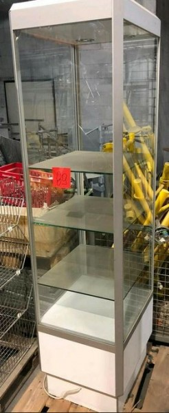 Glasvitrine Ladenbau Auslagefläche Präsenter Regal - gebraucht