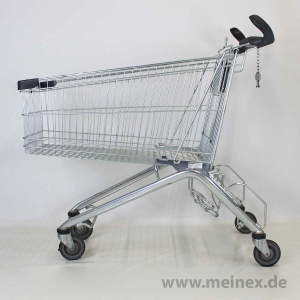 Einkaufswagen WANZL ELX 248 B - Grau - Griffhörner - gebraucht