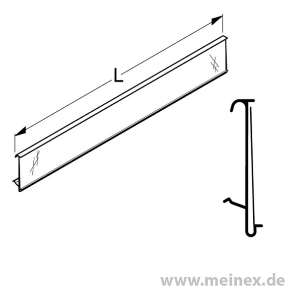 Scanner Rail / Price Rail Tegometall - Transparent