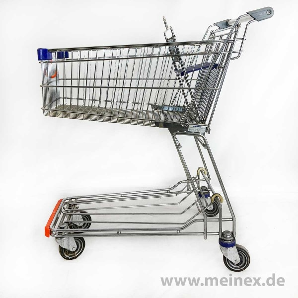 Shopping trolley Wanzl D85 RC - blue child seat - used