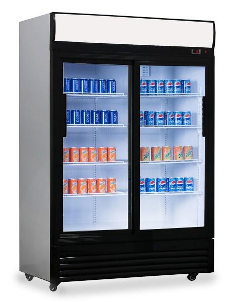 Getränkekühlschrank - 1,29 x 0,76 m - mit 2 Glasschiebetüren