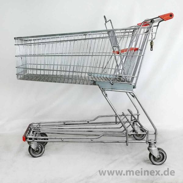 Einkaufswagen WANZL D155 RC - Kindersitz orange - gebraucht