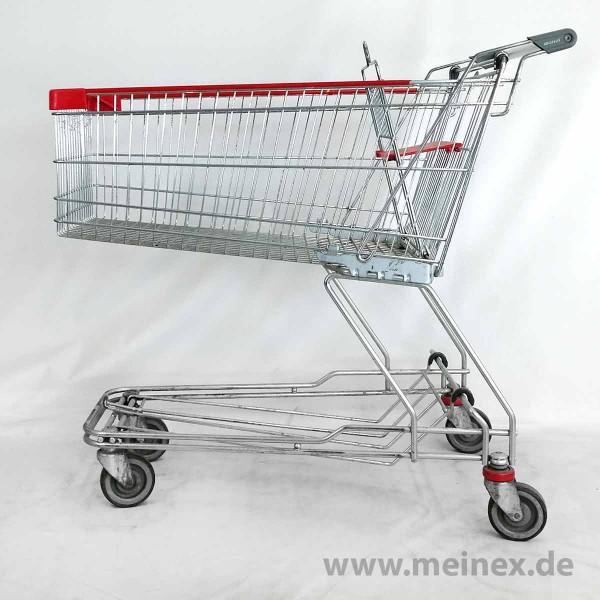 Einkaufswagen WANZL D155 RC mit Ablage - ohne Pfandschloss - gebraucht