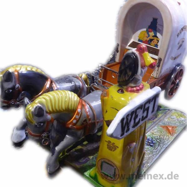 Kiddy Ride - Pferdegespann Wildwest- gebraucht