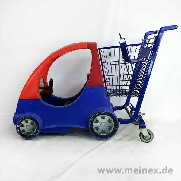Kindereinkaufswagen Fun Mobil 80 - rot / blau - gebraucht