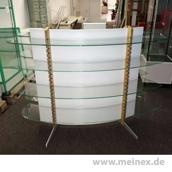 Regal mit Glasböden - gebraucht