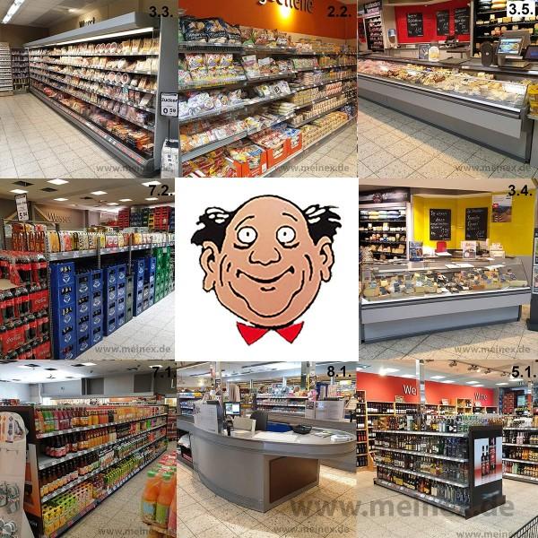 Komplette Supermarkteinrichtung für 2000 m² - gebraucht