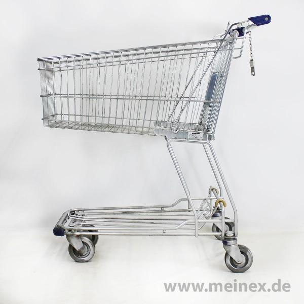 Einkaufswagen WANZL D130RC - blaue Griffenden - gebraucht