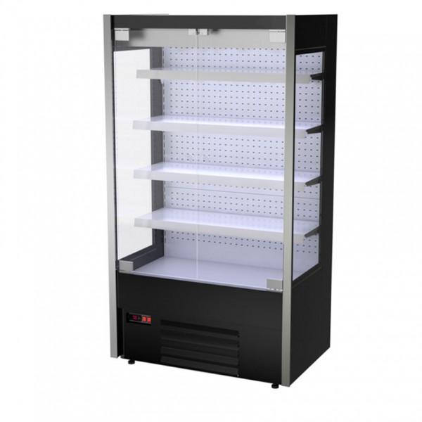Wandkühlregal Pampero - 1,1 x 0,70 m - Schwarz - LED