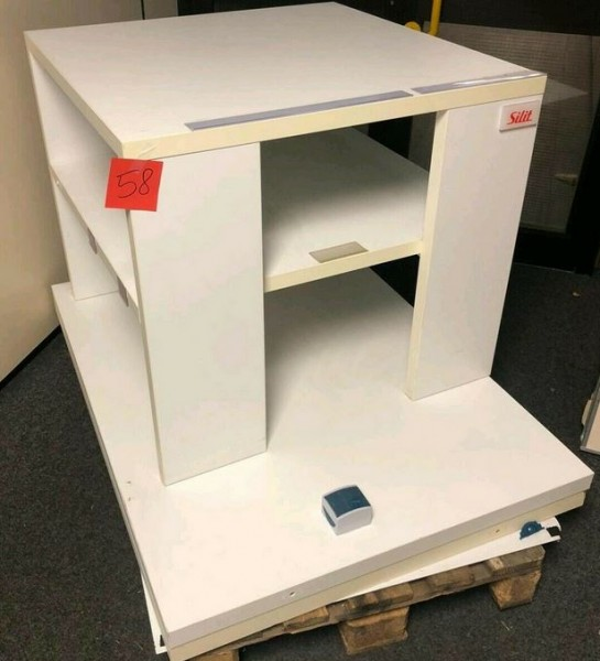 Tisch Holztisch Auslagetisch Silit Präsenter und Holzplatten - gebraucht
