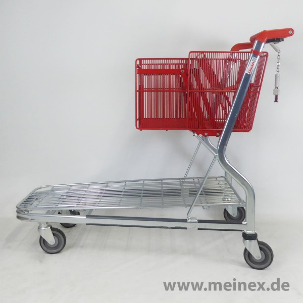Transportwagen Wanzl MUC400 Drahtplattform rot - gebraucht
