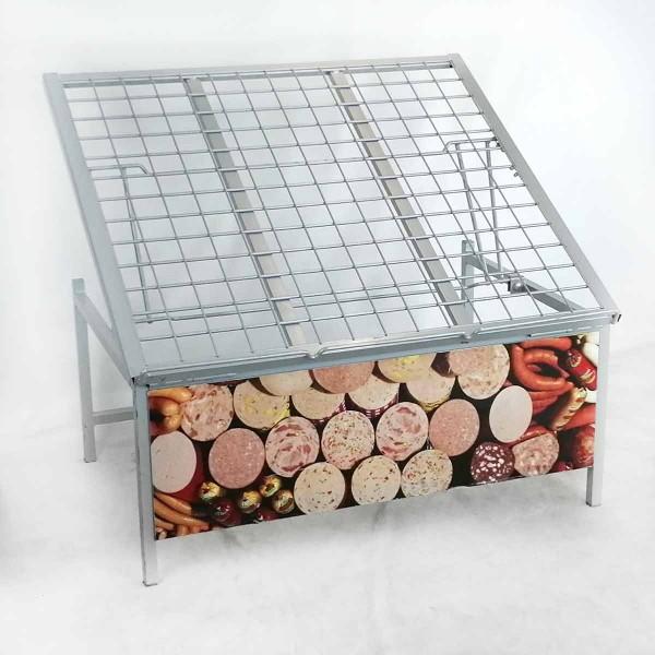 Verkaufsschräge / Obstschräge / Gemüseschräge - Grau - gebraucht