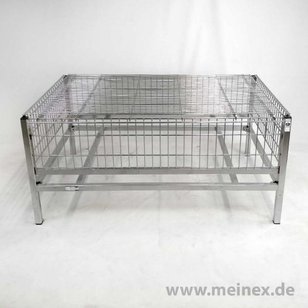 Wühltisch / Aktionstisch aus Vollchrom - Höhe 55 cm - gebraucht