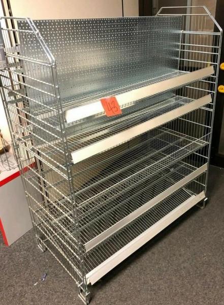 Verkaufsgondel Draht Gitter mit Böden - gebraucht