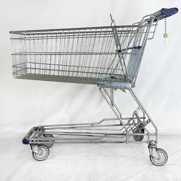 Einkaufswagen WANZL D155 RC - blauer Werbegriff - gebraucht