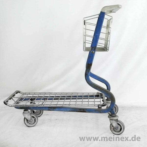 Plattformwagen / Transportwagen WANZL MUC 200 - blau - ohne Kindersitz - gebraucht