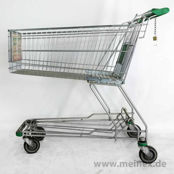 Einkaufswagen WANZL D155 RC - Kindersitz in grün- gebraucht