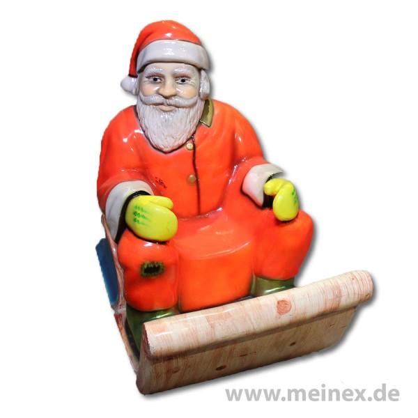 Dekorationsfigur - Weihnachtsmann auf Schlitten - gebraucht