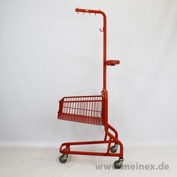 Textil-Einkaufswagen rot - gebraucht