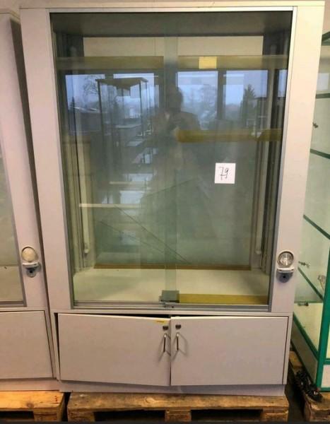 Glasvitrine ca. 120 cm Breite - gebraucht