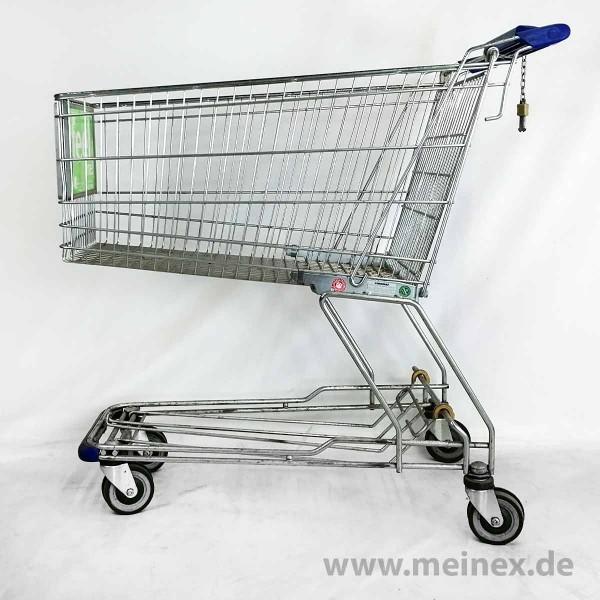 Einkaufswagen Wanzl D185 RCF - Fahrsteigrollen - Werbegriff - gebraucht