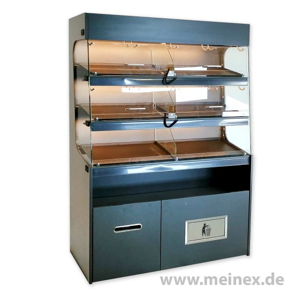 Donutregal mit Beleuchtung - Breite 1300 mm - FABRIKNEU