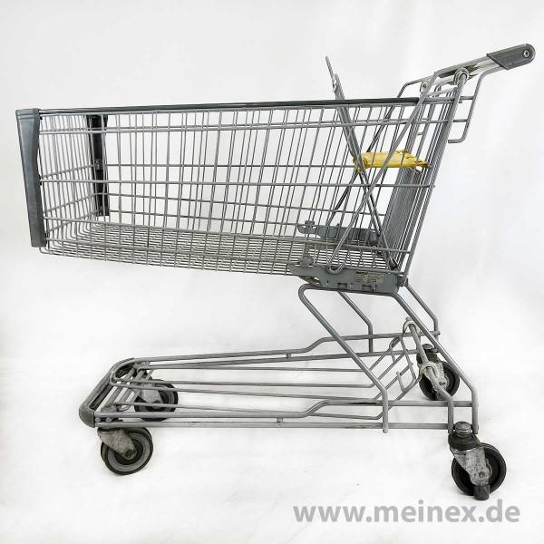 Einkaufswagen WANZL D155 RC - gelber Kindersitz / Fahrsteigrolle - gebraucht