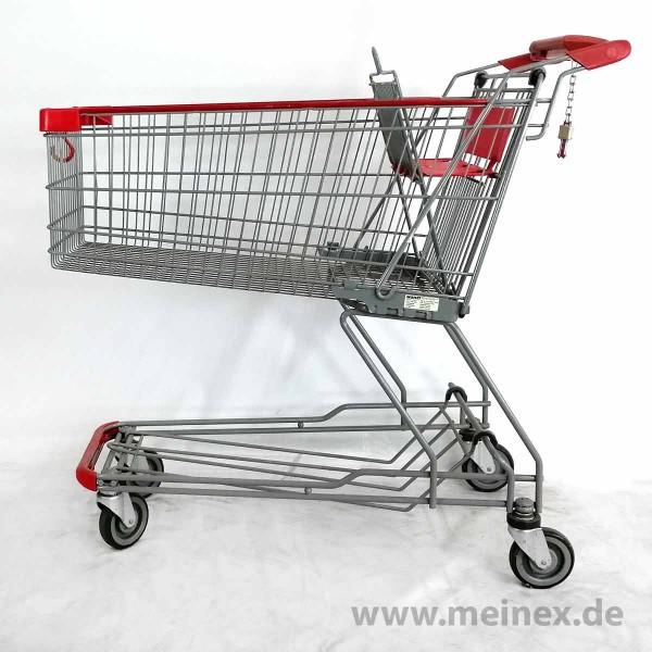 Einkaufswagen WANZL D155 RC - Kindersitz in rot- gebraucht