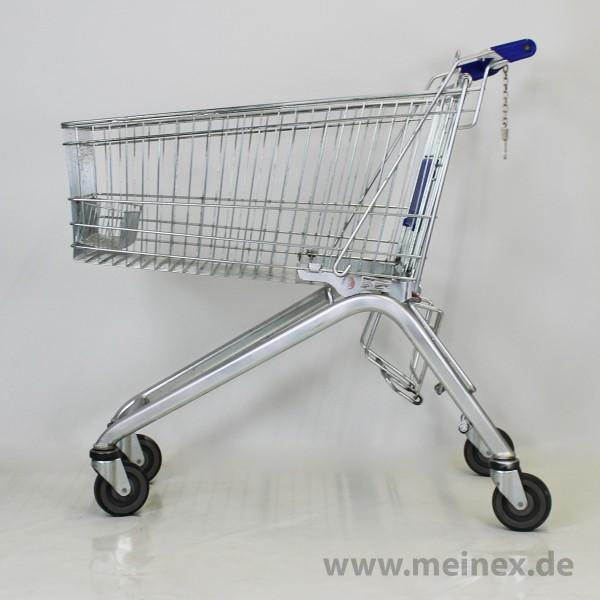 Einkaufswagen Wanzl ELA130 - Kistenablage - blau - gebraucht