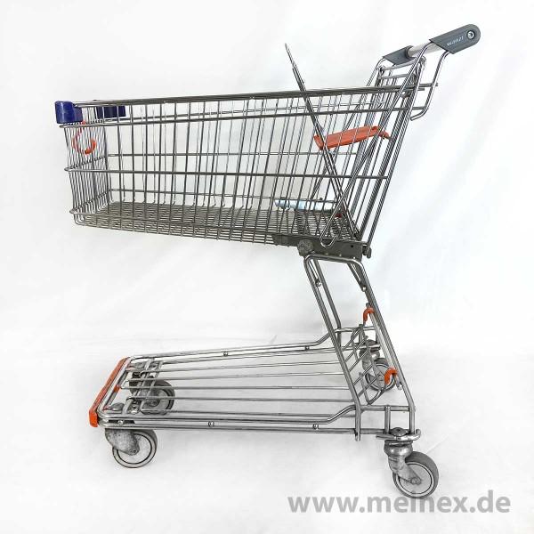 Einkaufswagen Wanzl D85 RC - orangener Kindersitz
