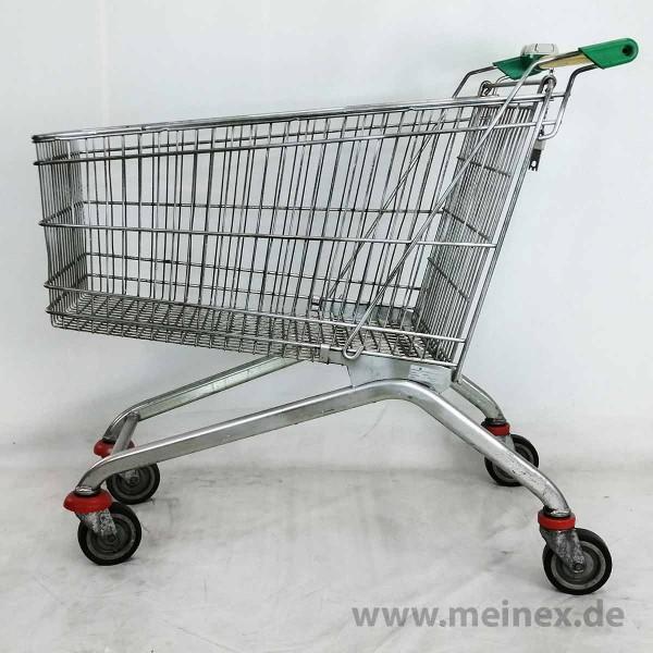 Einkaufswagen WANZL EL 150 - grüne Griffenden - gebraucht